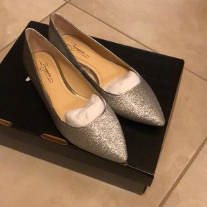 Imagine by Vince Camuto Sparkling Silver Flats